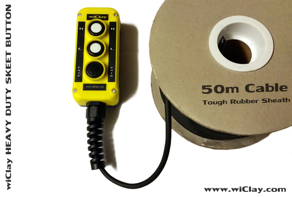wiClay Heavy Duty Skeet release button with 50m cable.